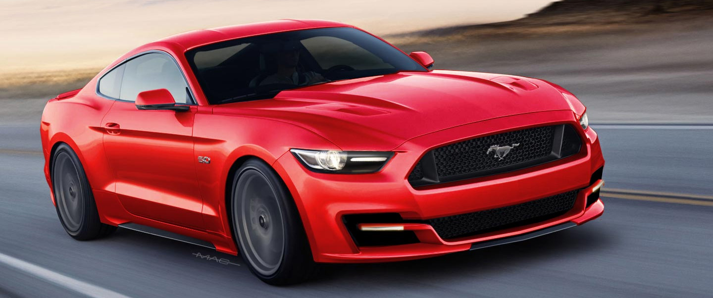 Red Ford Mustang Twin Turbo